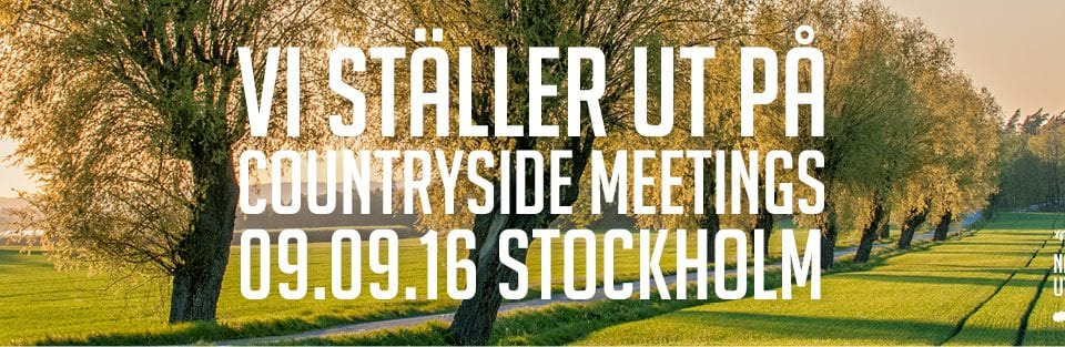 Vi ställer ut på Countryside Meetings